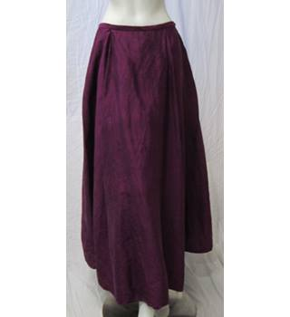 Silk Skirt with Net Lining Size 12 Unbranded - Size: 12 - Purple