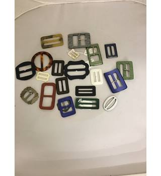 Set of 21 Vintage Mixed Belt Buckles