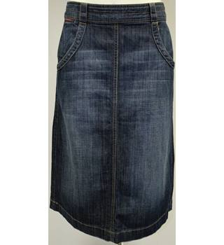 White Stuff - Size 8 - Blue - Denim - Calf Length - Skirt
