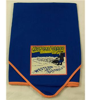 Vintage Boy Scouts Of America Neckerchief, Klondike Derby, Western District 1971