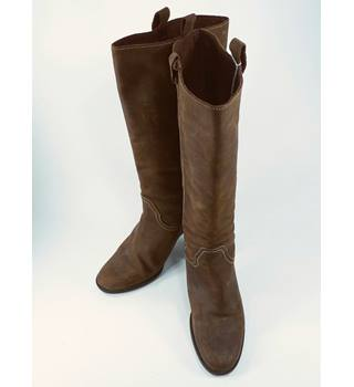 Crew - Size: 6.5 - Brown - Ladies' Long Suede Boots