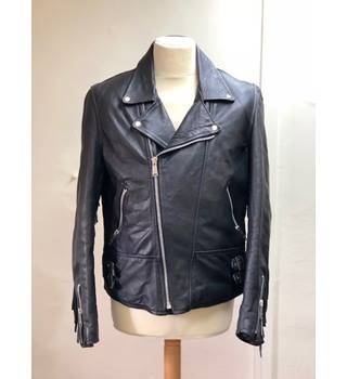 Men's Genuine Cowhide Leather Jacket Size L