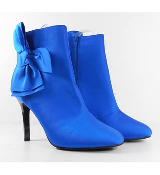 Marks & Spencer Colbalt Blue Bow Stiletto Ankle Boots Size 4