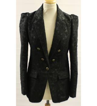 Next - Size: 10 - Black embossed - Smart jacket - Polyester and wool mix
