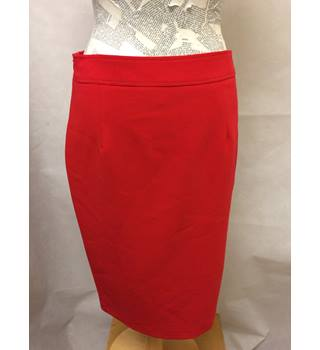 F&F - Size: 8 - Red knee length lined skirt