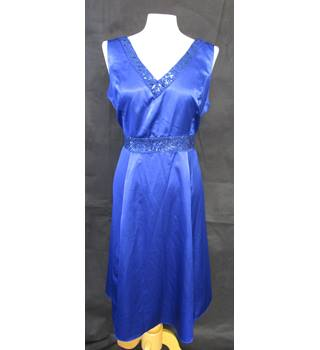 Cobalt Satin Finish - BHS - Size: 14 - Blue - Sleeveless