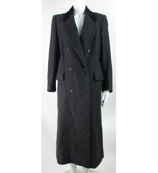 Planet - Size: 14 - Dark Grey - Wool Mix Double Breasted Coat