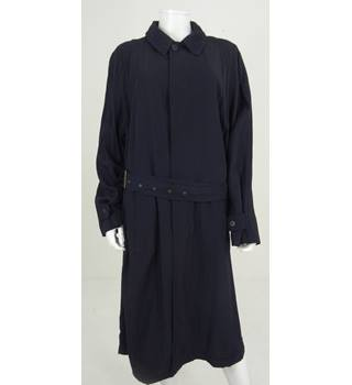 Emporio Armani Size 14 Navy Blue Trench Coat