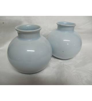 Two small Poole Vases Pale Blue