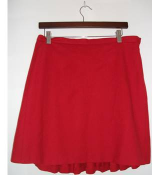 FRENCH CONNECTION Red Wool Mini Skirt NO Size but Waistband Measures 34""