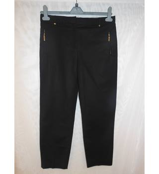 M&S Per Una Ladies Cropped Pants, size 12 M&S Marks & Spencer - Size: M - Black - Cropped trousers