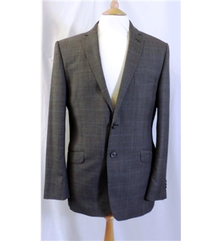 Paul Costelloe - size 40R, grey fil-a-fil, single breasted jacket