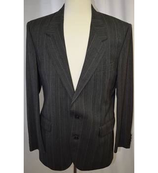 Christian Dior Monsieur - Size: M - Grey striped - Single breasted suit
