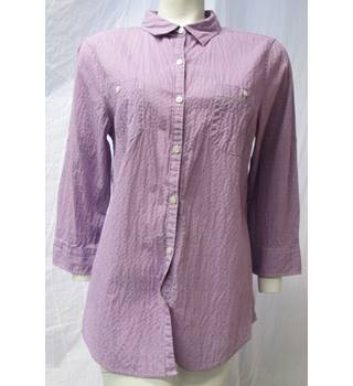 Cotton Blouse from Lands' End Size M Lands End - Size: M - Purple