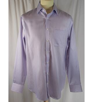M&S Collection - Regular - Purple Pin Striped Shirt