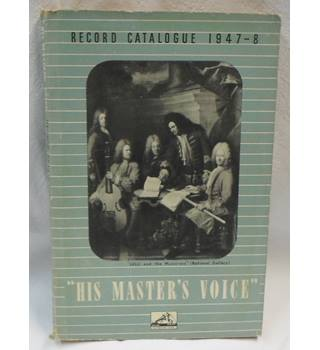 1947-1948 His Master's Voice Record Catalogue