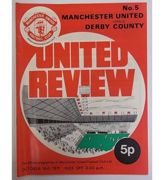 Manchester United v Derby County. 16th October 1971