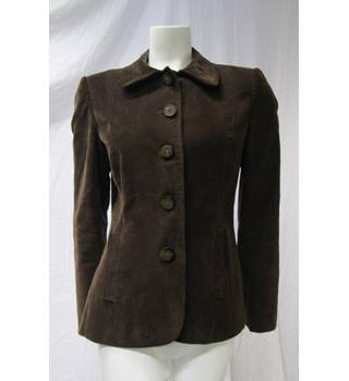 Per Una Size 12 Brown Cord Jacket