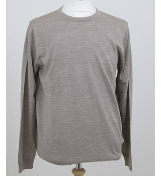 NWOT M&S Collection size: M light beige merino wool jumper