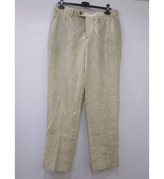 BWNT - Charles Tyrwhill - Size 36W - Beige checkered trousers