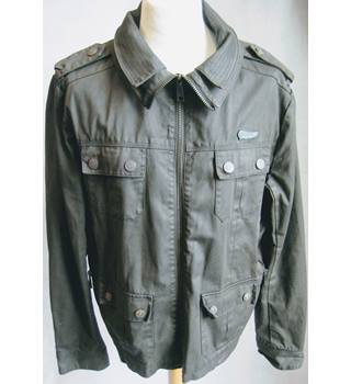 Superdry khaki waxed jacket size XXL Superdry - Size: XXL - Green - Waxed jacket