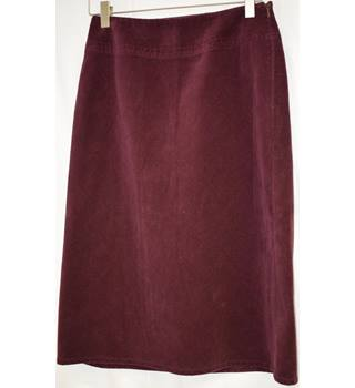 Burgundy a-line long skirt Oasis size 8