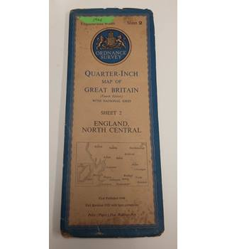 Ordnance Survey Quarter-Inch Map of Great Britain: England, North Central , 1946