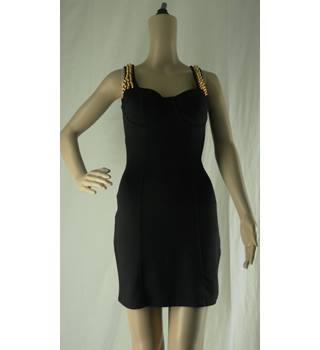 Emamoda Size: S Short Black Dress with Gold Studs