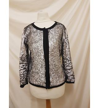 Mango Metallic Sequins Jacket Mango - Size: M - Metallics
