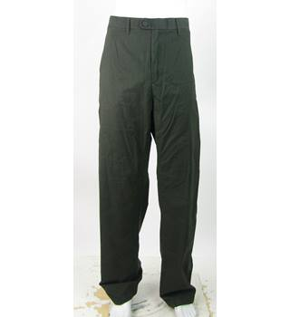 "BNWOT M&S Collection - Size: 48""/33"" - Dark Green - 'Active Waist' Regular Fit Cotton Trousers"