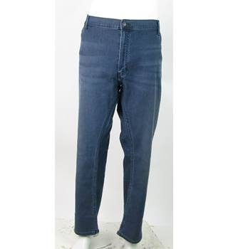 "BNWOT M&S Collection - Size: 50""/29"" - Dark Indigo - Slim Fit Jeans Style Trousers"