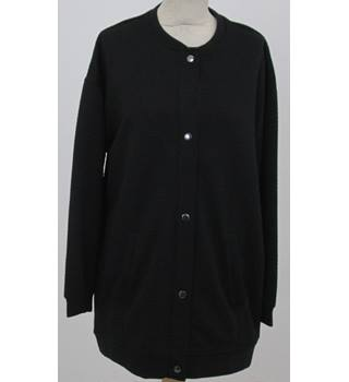 NWOT: M&S Collection: Size 14: Black textured cardigan