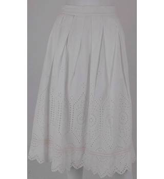 FRENCH CONNECTION Cream Knee-Length Skirt UK Size 8