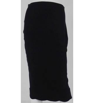 ASOS  Black Knee-Length Stretch Skirt No Size but Waistband Measures 26""