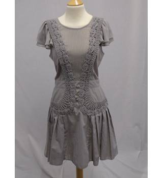 Warehouse - Size 10* - Grey/Brown Party Occasion Dress