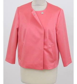 NWOT: M&S Collection: Size 16: Coral round neck loose fit jacket