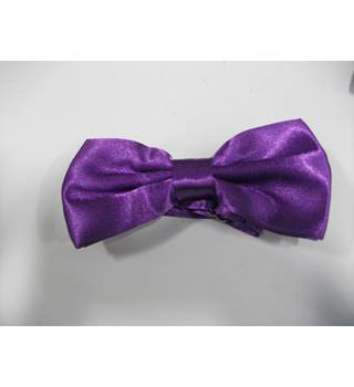 Purple Satin Bow Tie