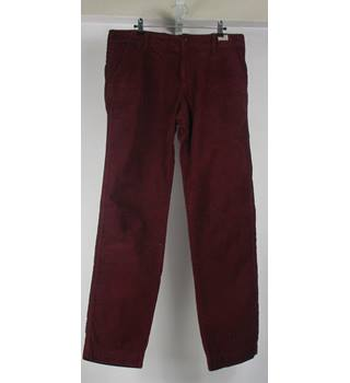 Tommy Hilfiger Deep Red corduroy Trousers size 32/32