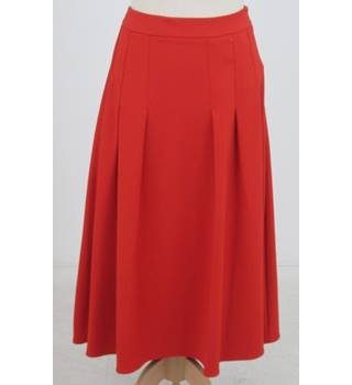 NWOT: M&S Collection: Size 8: Paprika red a-line pleated skirt