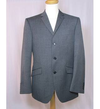 M&S Marks & Spencer - Size: M - Grey - Single breasted suit jacket