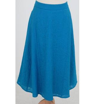 NWOT: M&S Classic Collection: Size 10: turquoise blue a-line skirt