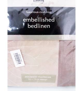 Luxurious Dunelm Non-Iron Embellished Housewife Pillowcase