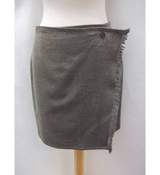 ally capellino - Size: 12 - Grey - Knee length skirt - 100% Wool