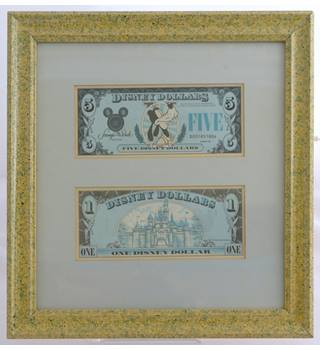 Disney Dollars in frame