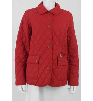 Barbour Size 14 Red Quilted jacket