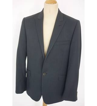 "Ted Baker Size: M, 40"" chest, tailored fit Dark Blue Prince of Wales Check Smart/Stylish Wool Single Breasted Designer Jacket"