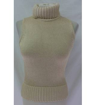 Amanda Wakeley Elements -10 -gold sleeveless knitted top