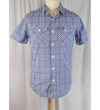 Superdry - Size small - Blue Checkered Shirt