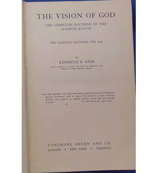 The Vision of God: The Christian Doctrine of the Summum Bonum