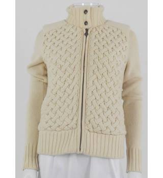 UGG Australia Size S Cream Wool and Cashmere Blend Jacket